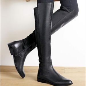 5cbbe2dbcdd Clarks Shoes - Clark s Bizzy Girl Knee High Suede 50 50 Boot